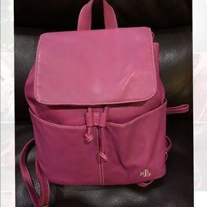 Ralph Lauren pink bucket bag backpack